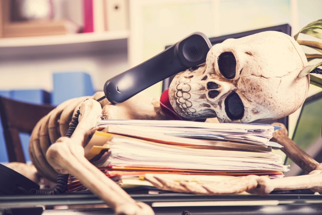 Skeleton Died Waiting for Call from Insurance Company