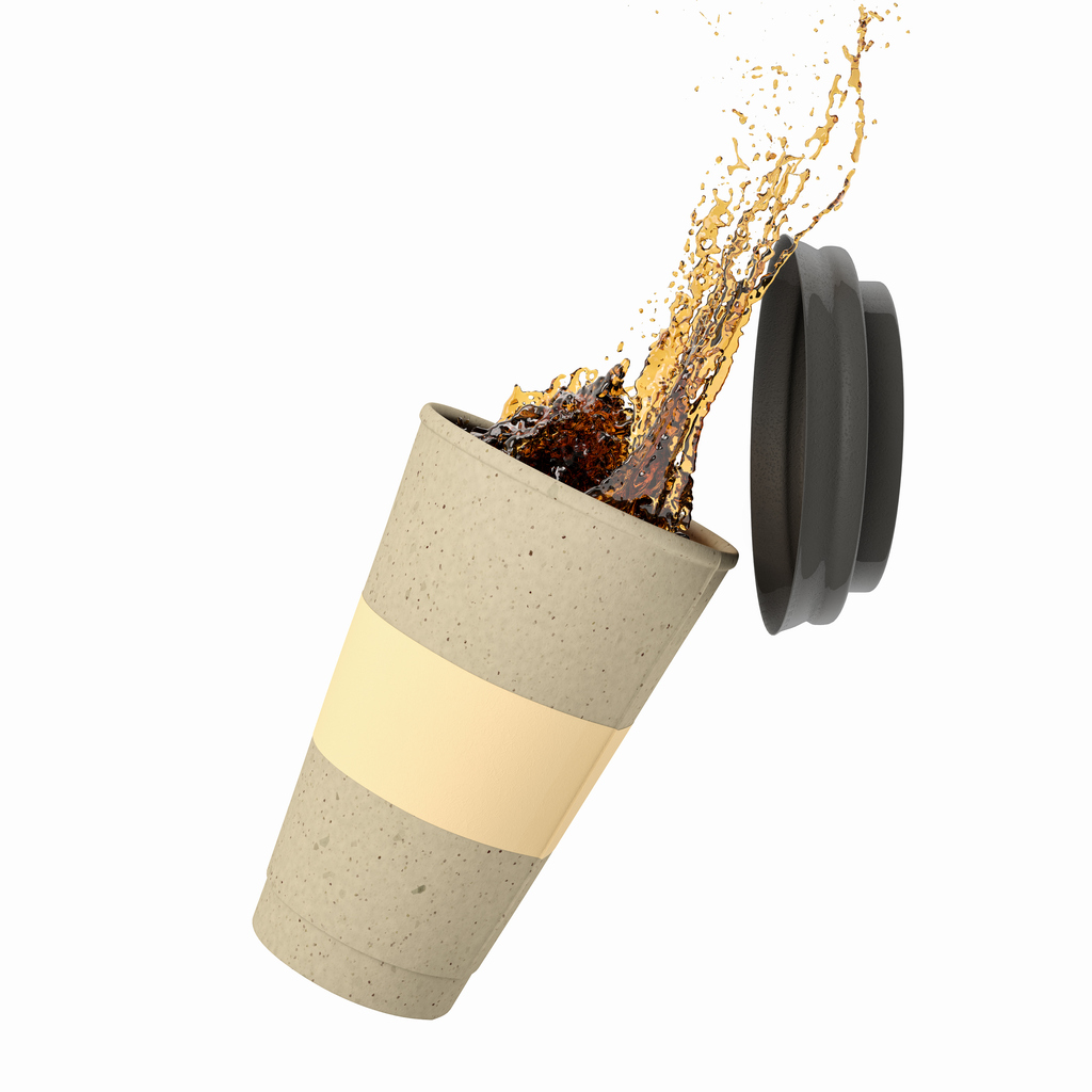 Coffee Spilling from To-Go Cup
